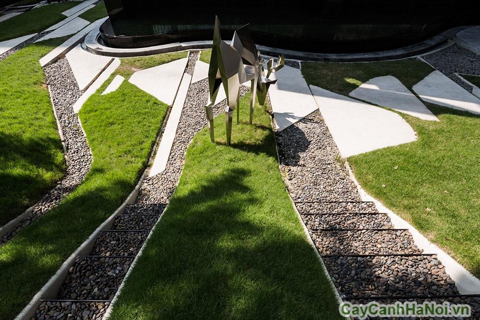 Những bãi cỏ xanh của cảnh quan