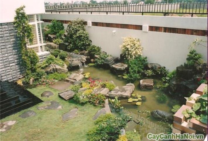 Một góc sân vườn tiểu cảnh
