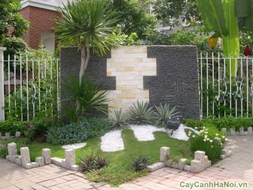 Sỏi đen co thể dung trang trí vườn tường, tiểu cảnh