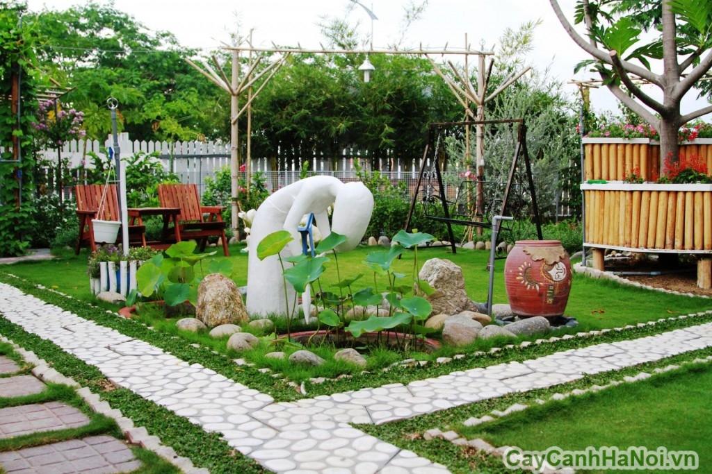 Cảnh quan sân vườn với tạo hình độc đáo