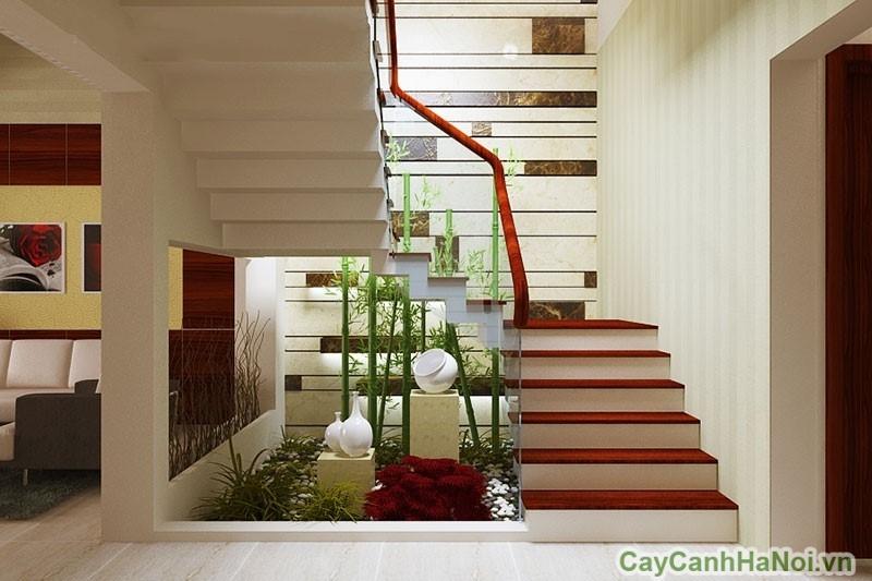 Thiết kế tiểu cảnh phù hợp với cầu thang dốc thấp