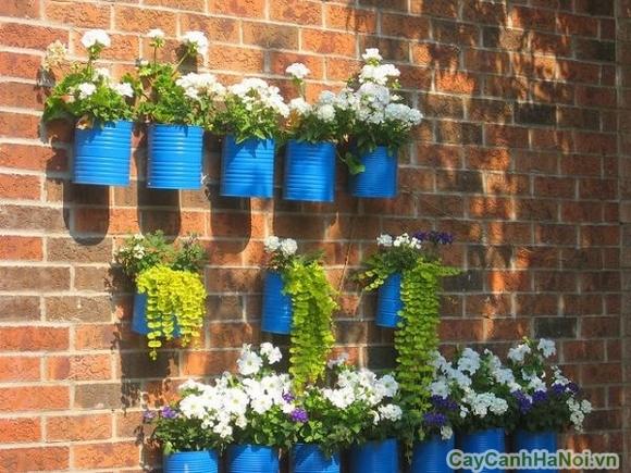 Vườn treo tường mặt trước biệt thự