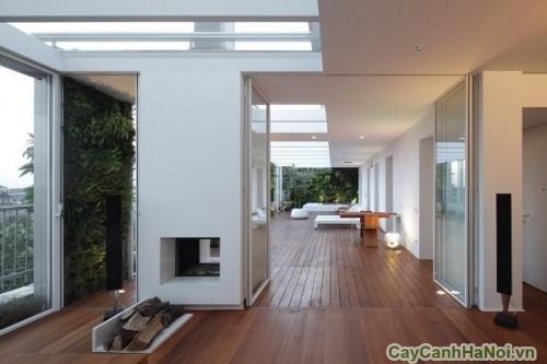 Các kiến trúc sư đã trang trí không gian sống của căn hộ này với những khu vườn thẳng đứng đem đến sự thân thiện giữa ngôi nhà với thiên nhiên