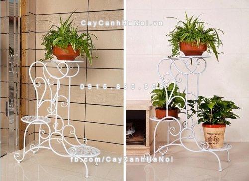 Kệ sắt trang trí cây hoa 3 tầng