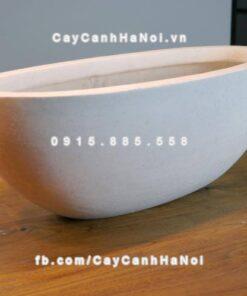 Chậu cây cảnh composite iPot oval ( IP-00066)