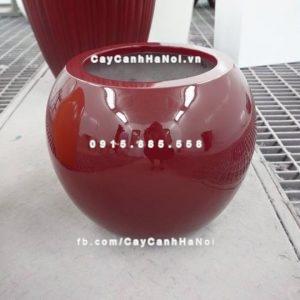 Chậu cây cảnh composite iPot tròn ( IP-00046)
