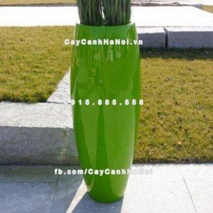 Chậu cây composite iPot tròn dài ( IP-00153)