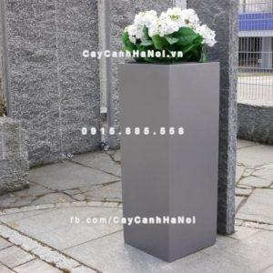 Chậu cây composite iPot vuông cao cấp ( IP-00018 )