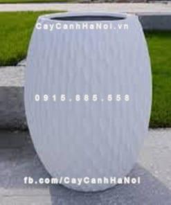 Chậu composite iPot tròn xọc dọc ( IP-00034)
