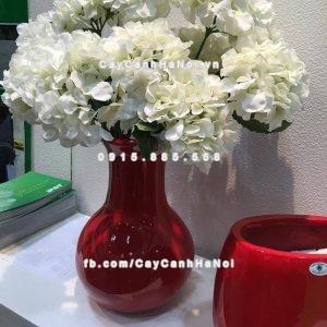 Chậu nhựa composite iPot hình bình hoa ( IP-00077)
