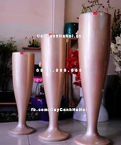Chậu nhựa composite iPot hình ly ( IP-00023)