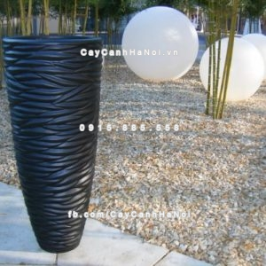 Chậu nhựa composite iPot họa tiết cao cấp ( IP-00001)