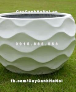 Chậu nhựa composite iPot họa tiết ( IP-00100)