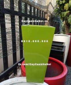 Chậu nhựa composite iPot vuông vát đáy ( IP-00069 )