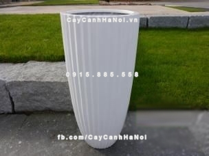 Chậu nhựa composite iPot xọc dọc ( IP-00029)