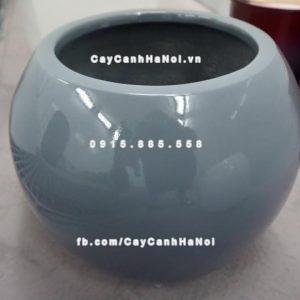 Chậu nhựa trồng cây composite iPot tròn ( IP-00045)