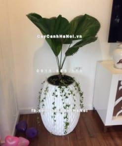Chậu trồng cây composite iPot xọc dọc ( IP-00032)