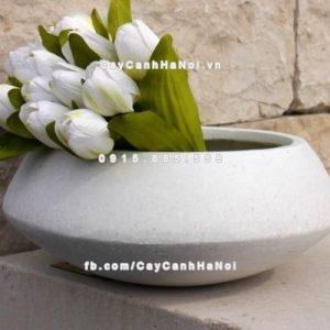 Chậu trồng hoa composite iPot tròn ( IP-00062)