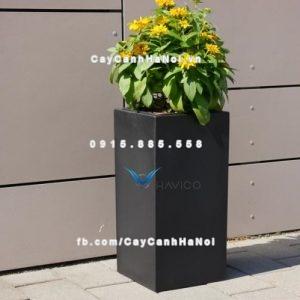 Chậu cây composite Havico Lazy vuông cao| CB-335